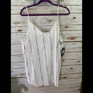 HURLEY White Coastal Slip Dress/Tank Size L NWT